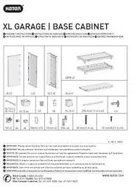 Cabinet Assembly Xl Pro Ready To Assemble Garage Storage Cabinet Set Black