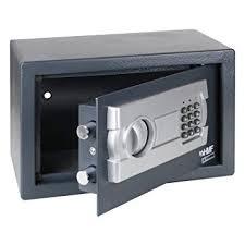 coffre fort bureau hmf coffre fort avec serrure électronique 310 x 200 x 200 mm amazon