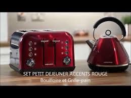 Morphy Richards Accents Toaster Set Petit Déjeuner Accents Rouge Bouilloire 242004 Grille Pain