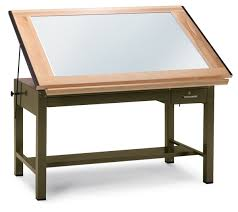 Drafting Table With Light Box Mayline Ranger Steel Light Table Blick Materials