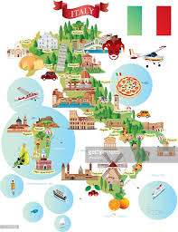 Italy Mountains Map by Cartoon Map Of Italy Cartoon Italy And Italia