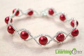 pearl bracelet tutorials images How to make your own red pearl bracelet with clear seed beads jpg