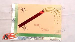 diy easy diwali greeting card how to make project for
