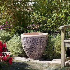garden pots design ideas garden decor cozy image of square tapered black granite big plant