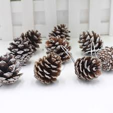 online shop 9pcs christmas pine cones with string wood pinecone