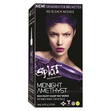 How To Wash Off Color Run - splat midnight hair color amethyst 6 0 oz target