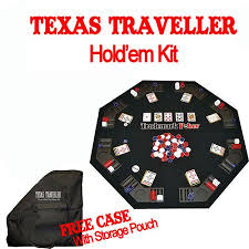 Table Top Poker Table Poker Texas Traveller Table Top And 300 Chip Travel Set Walmart Com