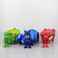 3pcs pj masks action figure catboy car owlette glider