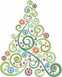 swirl christmas tree clipart china cps
