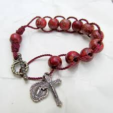 rosary bracelet wooden rosary bracelet