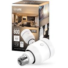 lifx white 800 led smart light bulb walmart com