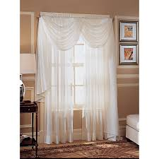 How To Hang A Drapery Scarf by Whole Home Colormate Crinkle Voile Window Panel Sears