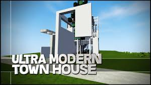 Ultra Modern House Minecraft Creative Showcase Ultra Modern Town House Youtube