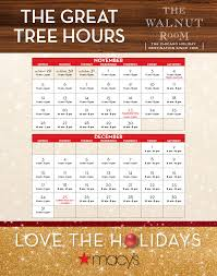 walnut room hours macysrestaurants
