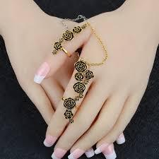 finger chain rings images New design rose finger climber two finger rings set for women jpg