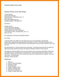 cover letter academic advisor inspirational academic advising