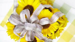 sunflower ribbon wallpapers tagged with decorative work beautiful tulips