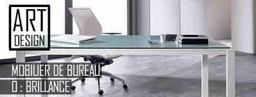 bureaux en verre artdesign bureaux design avec plateaux mélaminéhêtre ou blanc uni
