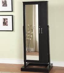 Black Storage Armoire Simple Dressing Room With Full Length Mirror Jewelry Cabinet