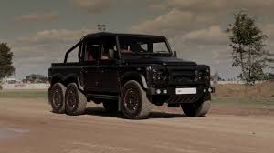 kahn land rover defender kahn tv launch of the flying huntsman 6x6 defender 110 crew cab