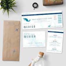 boarding pass destination wedding invitation suite