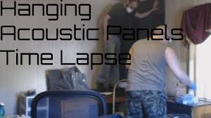 hanging acoustic panels time lapse youtube