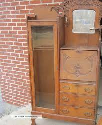 Antique Curio Cabinet With Desk Secretary Desk With Hutch Antique Ideas Greenvirals Style