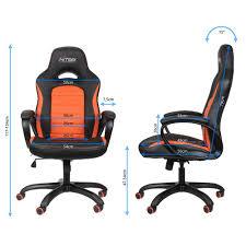 Gaming Swivel Chair Nitro Concepts C80 Pure Gaming Stuhl Schwarz Orange