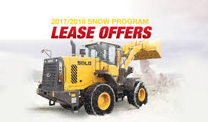 2017 2018 snow program wheel loader lease offers sdlg north
