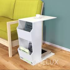 acrylic c shaped occasional side sofa tea table with magazine