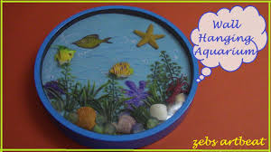 diy amazing wall hanging aquarium recycle old wall clock u0026 toys