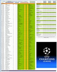 Schedule Spreadsheet Excel Templates 2014 15 Uefa Champions League Schedule Spreadsheet