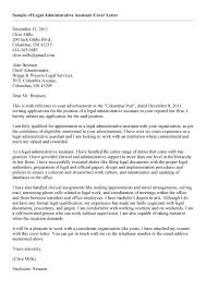 legal assistant cover letter sample legal assistant cover letter