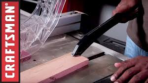 How To Use Table Saw Table Saw Safety Tips How To Use A Push Stick Craftsman Youtube