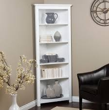 Cheap White Bookcases For Sale by Furniture Exciting White Corner Bookshelf For Simple Office