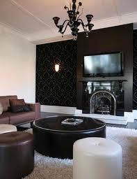 Grey Wallpaper Living Room Uk Black Living Room Image Of Black Living Room Furniture Creation