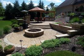 Patio Retaining Wall Pictures Cleveland Ohio Landscaping Design Services H U0026m Landscaping