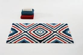 Blue Bathroom Rugs Abyss Habidecor Indigo Bath Rugs Red Ivory U0026 Blue Diamond Pattern