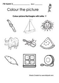 color the picture that begins with alphabet y worksheet
