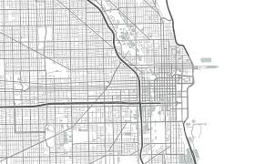 chicago map streets map chicago pencil and in color map chicago