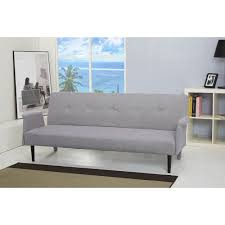 furniture grey kebo futon sofa bed with arms for living room