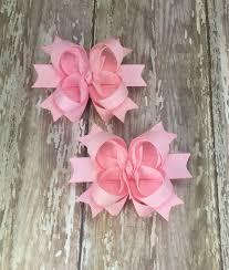 toddler hair bows light pink bow light pink hair bow pink biw pink hair bow