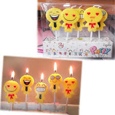 wedding cake emoji 5pcs set emoji cake candles birthday wedding party
