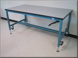Pneumatic Height Adjustable Desk by Lift Tables At Rdm Adjustable Tables A107p