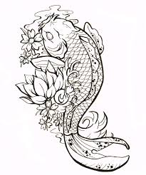drawn koi fish man pencil and in color drawn koi fish man