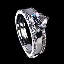 wedding ring sets south africa shining heart cut created white sapphire enhancer wedding set 2 24