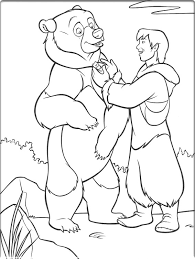 brother bear colouring sheets