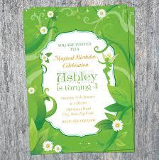 printable tinkerbell birthday invitation fairy garden invitation