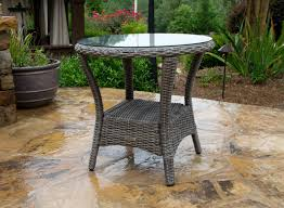 Outdoor Side Table Ideas by Patio Outdoor Patio End Tables Bayview Driftwood Side Table 72dpi