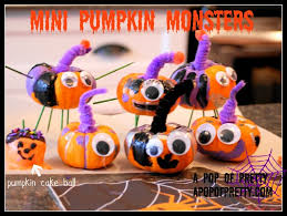 easy halloween craft idea for kids mini pumpkin monsters mini